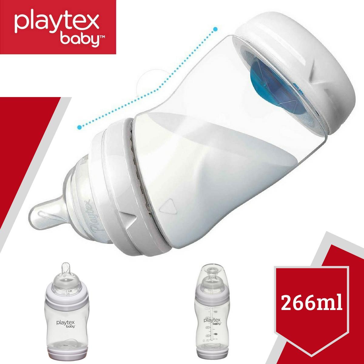 Bình sữa Playtex VentAire cổ cong chống sặc 266ml (9oz) không chứa BPA - Xách tay Mỹ