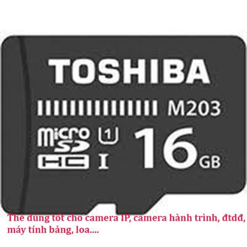 Thẻ Nhớ 16GB MicroSD Toshiba M203 - Chuyên dùng cho Camera- Bảo hành 24 tháng