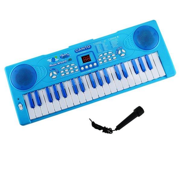 Đàn piano HL3702A có micro-Hộp đàn organ pin 37 phím kèm micro-Đồ chơi âm nhạc-Đàn cho bé-Đàn có kèm Micro bé Vừa tập đàn,tập hát