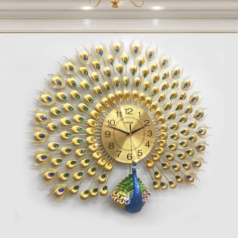 Đồng hồ treo tường con chim công A25 thương hiệu Việt Nam chính hãng kim trôi hiện đại cao cấp nghệ thuật không gây tiếng động SEENSI bán chạy