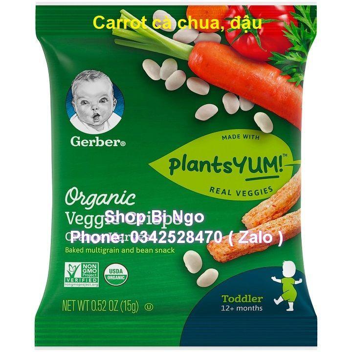 Gói lẻ bánh ăn dặm Gerber Organic Veggies Crisps gói...