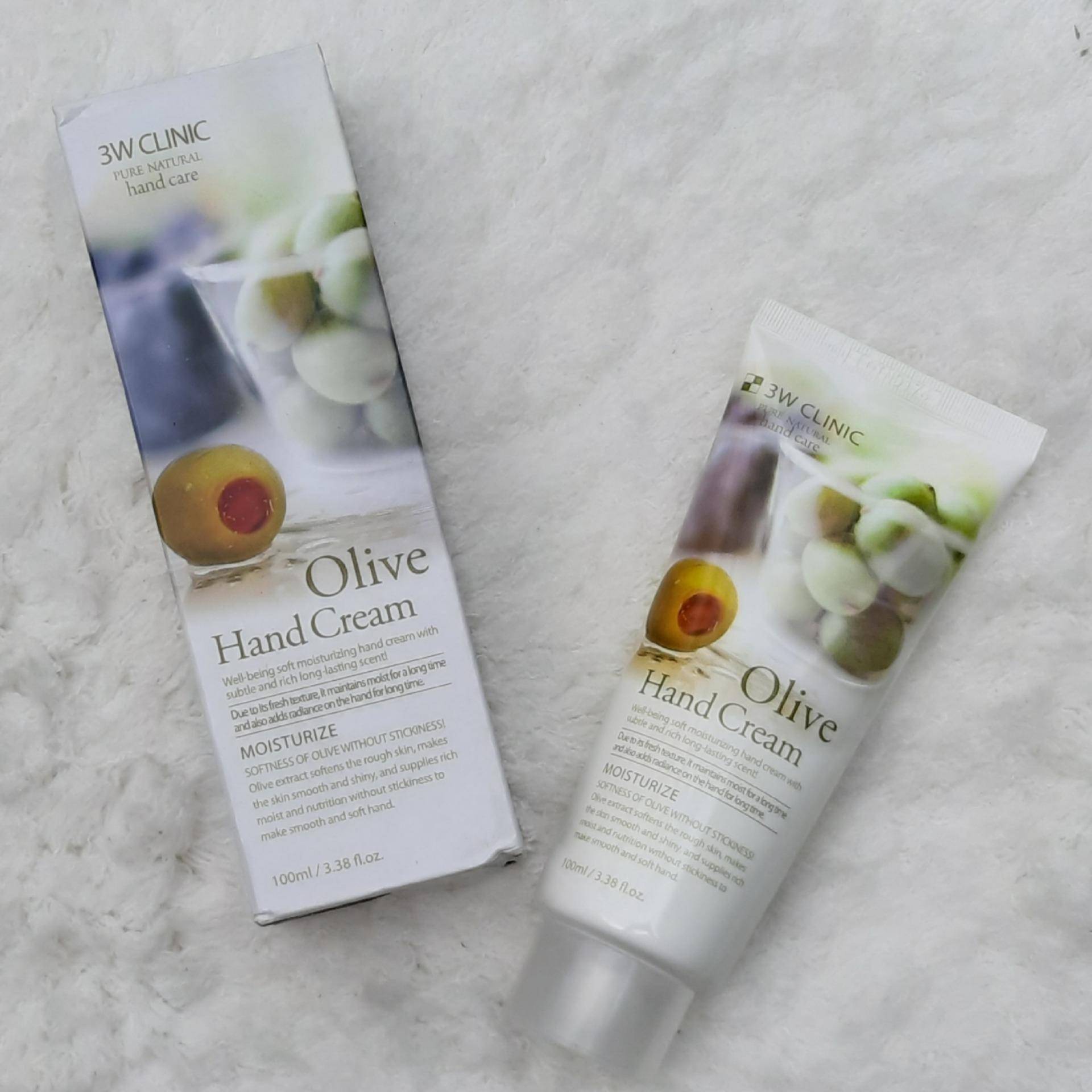 Kem dưỡng da tay Pure Fresh  Olive Oil Moisturize Hand Cream 60g – Hàn Quốc (Dầu Olive)