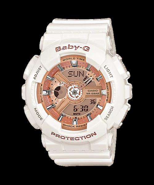 Nơi bán Đồng hồ casio nữ dây nhựa chính hãng BABY-G BA-110-7A1