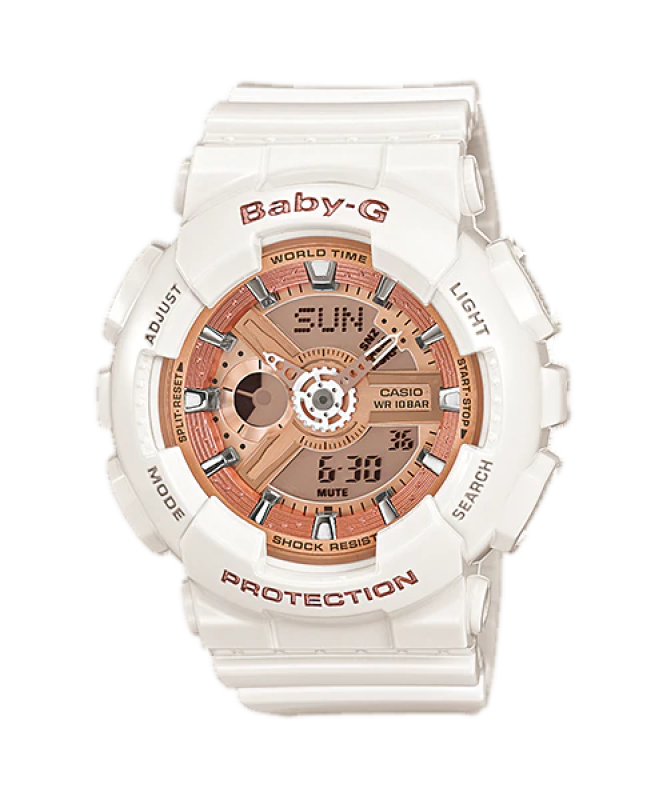 Đồng hồ casio nữ dây nhựa chính hãng BABY-G BA-110-7A1
