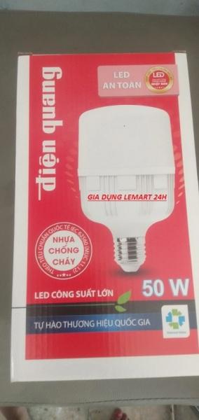 Bóng đèn LED ĐIỆN QUANG(màu trắng) siêu sáng  chống cháy cao cấp công suất lớn 50w, siêu tiết kiệm điện, ánh sáng trắng, thời gian tuổi thọ lên đến 80000h