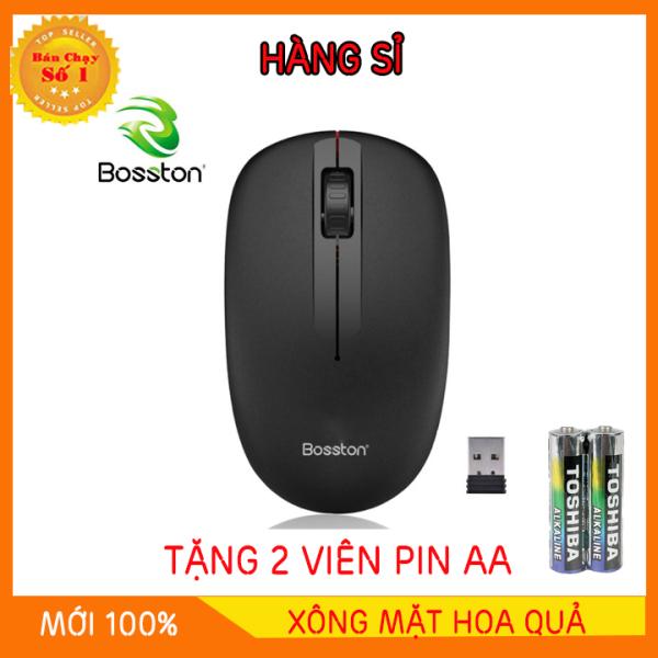 Bảng giá chuột không dây Bosston Q1 tặng kèm pin - chuột không dây bluetooth Phong Vũ
