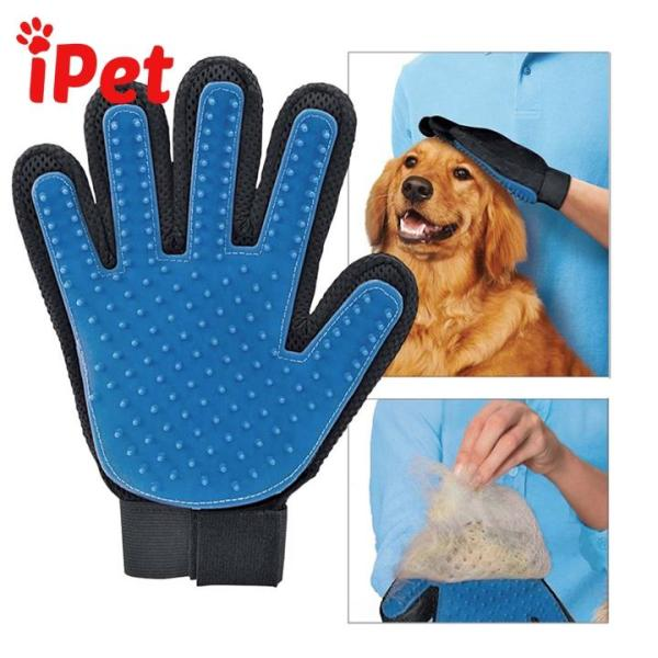 Găng Tay Chải Lông Rụng Cho Thú Cưng Chó Mèo - iPet Shop