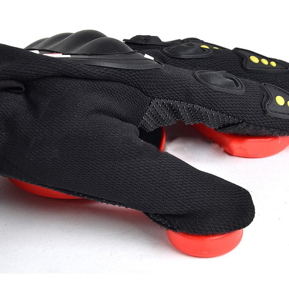 Mingrui Store Black Red 3 POM Slider Gloves Longboard Gloves Skateboard Gloves