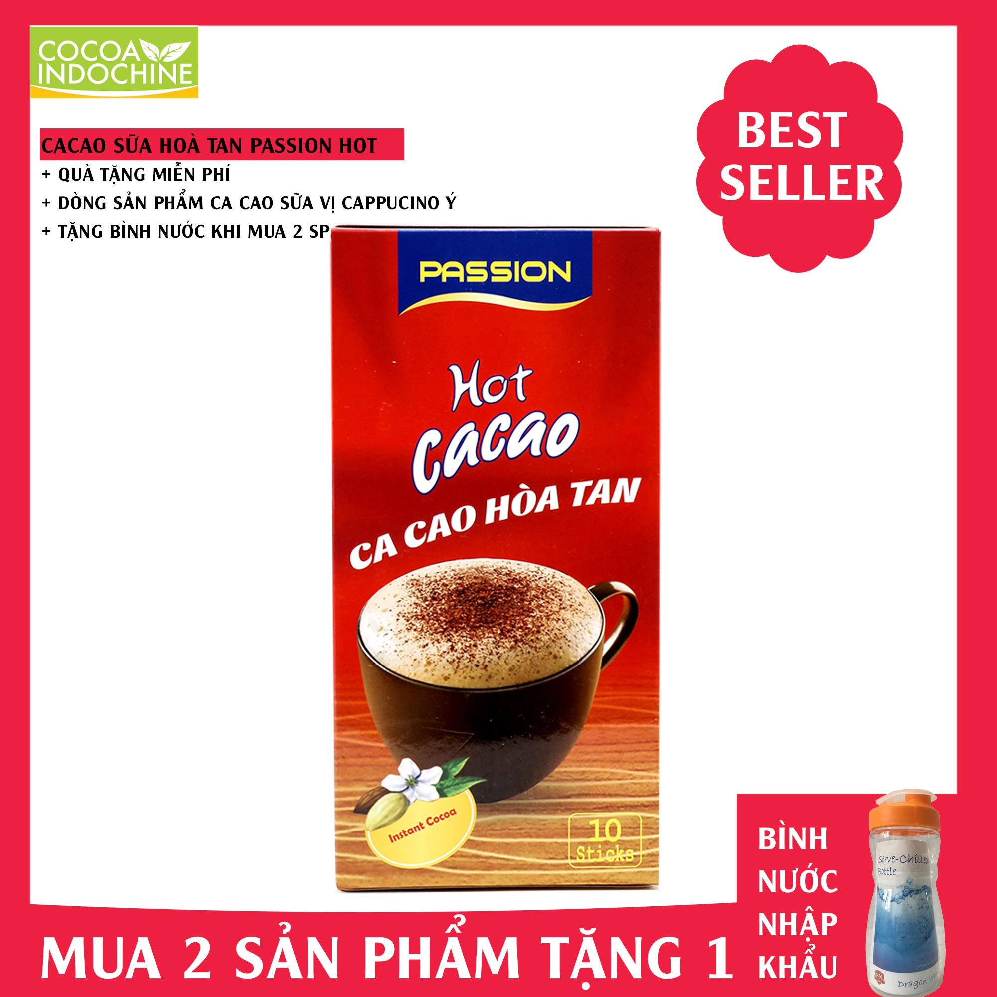 Bột Cacao Passion Hot Cacao - Cocoa Indochine (Hộp 10)
