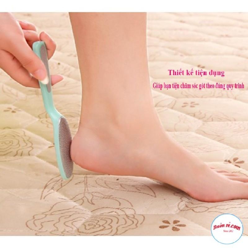 Dụng cụ chà gót chân bằng thép 2 trong 1, tẩy da chết, giúp gót chân hồng hào