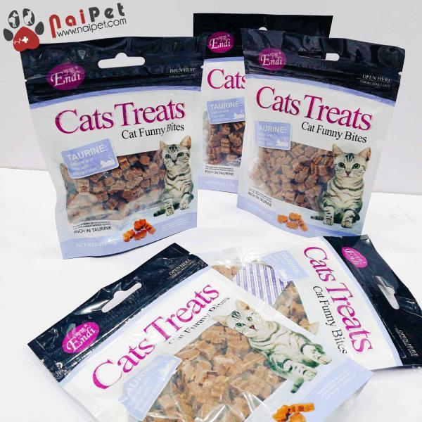 Đồ Ăn Vặt Bánh Thưởng Cho Mèo Vị Cá Hồi Cá Ngừ Bò Băm Cats Treats Endi 70g