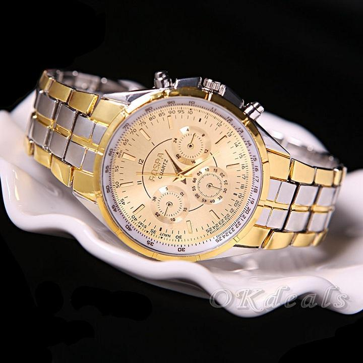 Nơi bán [ TẶNG HỘP VÀ PIN 50K ] Đồng hồ nam dây thép đúc đặc chính hiệu Rosra, cao cấp sang trọng, bảo hành 2 năm