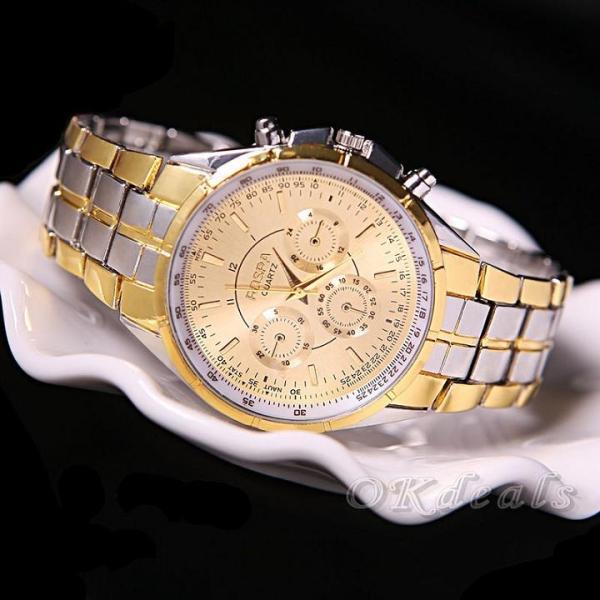 [TẶNG HỘP VÀ PIN 50K] Đồng hồ nam dây thép đúc đặc chính hiệu Rosra, khóa bướm cao cấp, tặng cây cắt mắt dây, bảo hành 2 năm bán chạy