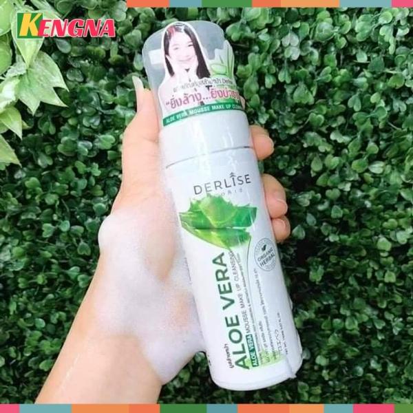 Nước tẩy trang cho da dầu mụn làm sạch sâu KENGNA Derlise 100ml - Bọt tẩy trang cho da nhạy cảm chiết xuất từ nha đam (Aloe Vera)