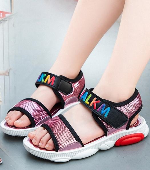 Dép sandal bé gái 3 - 13 tuổi quai ngang xinh xắn - SHONG61 giá rẻ