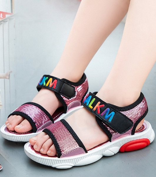 Giá bán Dép sandal bé gái 3 - 13 tuổi quai ngang xinh xắn - SHONG61