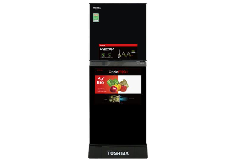 Tủ lạnh Toshiba Inverter 194 lít GR-A25VM (UKG).Tiện ích:Ngăn đông mềm trữ thịt cá không cần rã đông, Ngăn rau quả rộng, Inverter tiết kiệm điện, Ngăn kệ có thể thay đổi linh hoạt