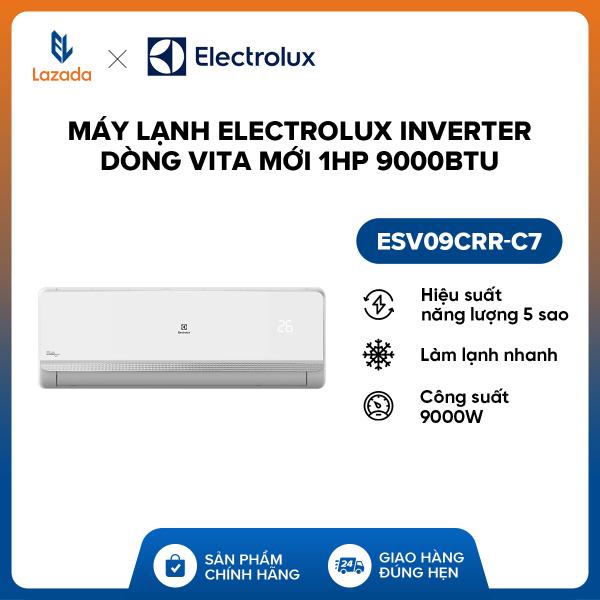 Bảng giá Máy lạnh Electrolux Inverter dòng Vita mới 1HP 9000BTU ESV09CRR-C7 (Trắng) - Hàng phân phối chính hãng, tiết kiệm điện