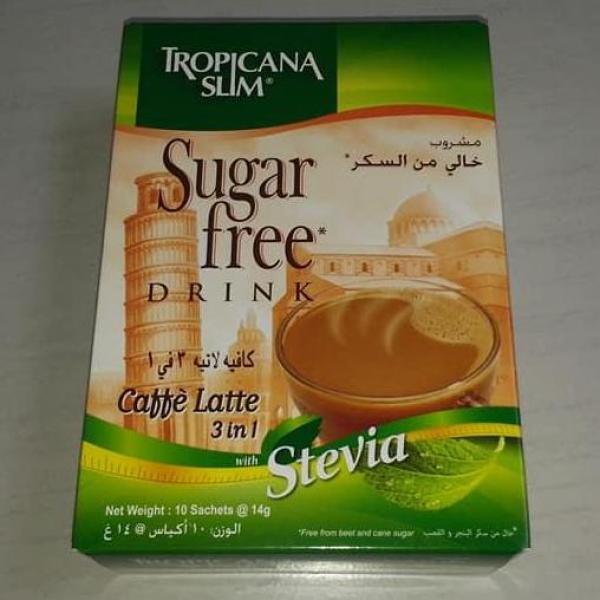Cà phê ăn kiêng Tropicana Slim Latte với chiết xuất cỏ ngọt