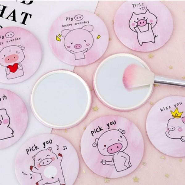 Gương mini heo hồng báo hồng Hàn Quốc xinh nhiều mẫu