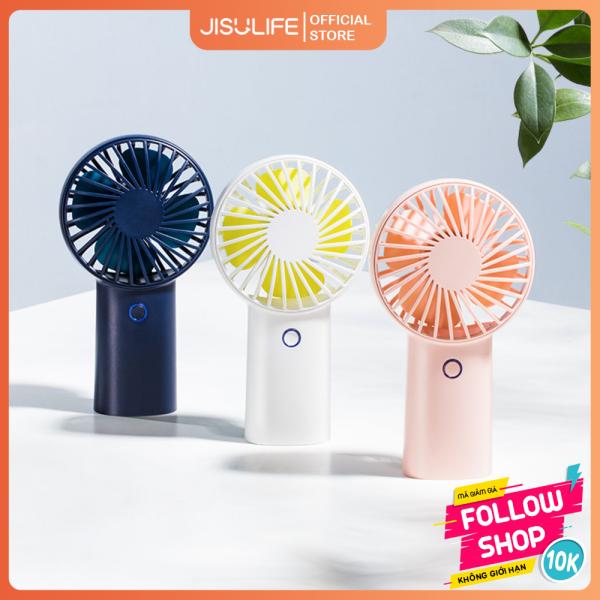 Quạt mini cầm tay tỏa hương thơm Jisulife F2B - Khuếch tán tinh dầu và nước hoa 3 cấp độ gió  – Quạt mini USB sạc nhanh 3 giờ, hoạt động 20 giờ liên tục bền bỉ không gây tiếng ồn (Bảo hành 12 tháng)