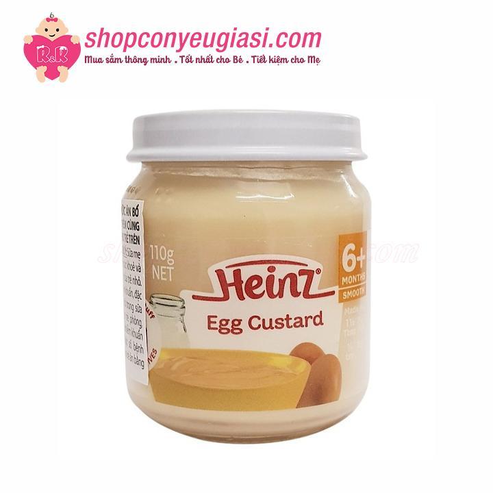 Dinh Dưỡng Đóng Lọ Heinz Custard Sữa Trứng 110g Cho Bé 6 Tháng Trở Lên
