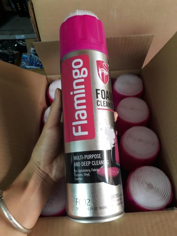 01 Chai xịt bọt Flamingo F002 vệ sinh da làm sạch ghế da , nội thất ô tô - Làm sạch ghế da, nỉ, taplo