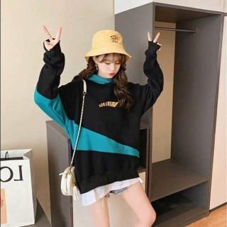 Áo hoodie,áo khoác hoodie nỉ nam nữ chất thun nỉ mềm mịn from rộng, hoodie cặp IN CHỮ LƯNG CUTE BL thumbnail