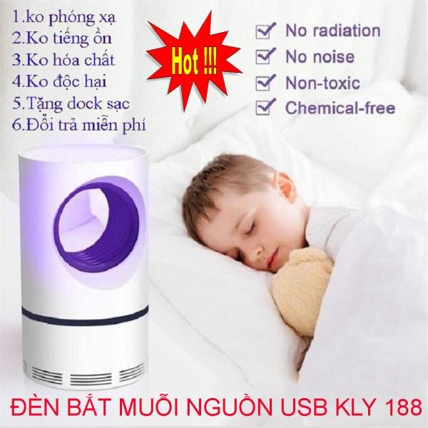 [ Sale Sốc 50% ] ĐÈN BẮT MUỖI NGUỒN USB KLY 188 Cao Cấp -An Toàn, Hiệu Quả, Bảo Vệ Sức Khỏe, Đèn Chống Muỗi, Đèn Bắt Muỗi Thông Minh Cao Cấp - Mang Lại Giấc Ngủ Ngon và An Toàn Cho Gia Đình Bạn
