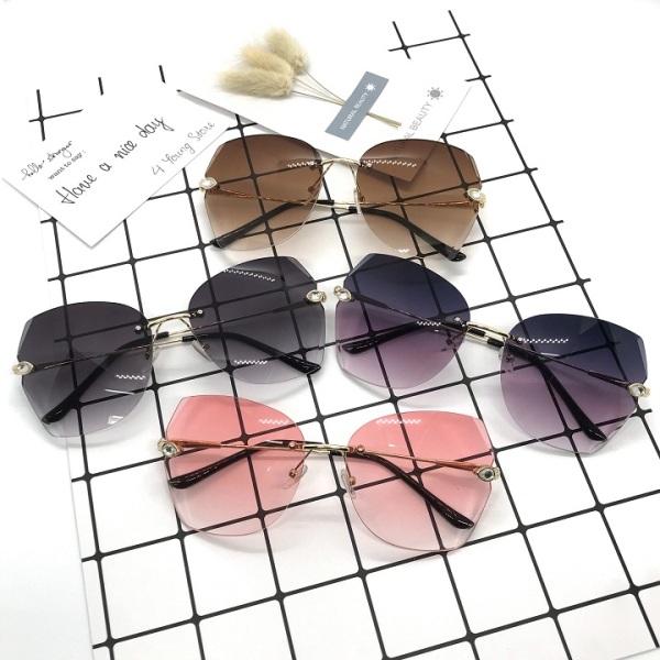 Giá bán Kính râm thời trang nữ xi ốc không khung cao cấp Hàn Quốc đạt tiêu chuẩn ANSI chống tia UV bảo vệ mắt - Kính mát nữ 032