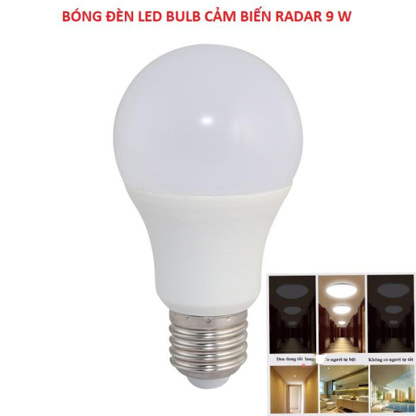 Đèn LED Cảm Biến Tự Động Tắt Bật - Đèn LED BULB CẢM BIẾN 9W RẠNG ĐÔNG