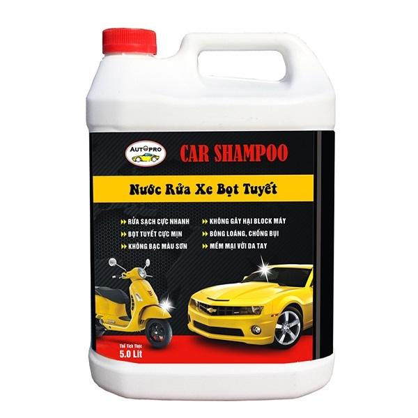 Nước rửa xe bọt tuyết Car Shampoo 5L giúp xe luôn sạch và sáng bóng LLC185