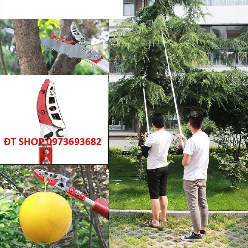 Kéo hái quả trên cao - Kéo cắt cành trên cao gậy thiết kế 2 khúc dài 3 mét , thu ngắn 1.8 mét