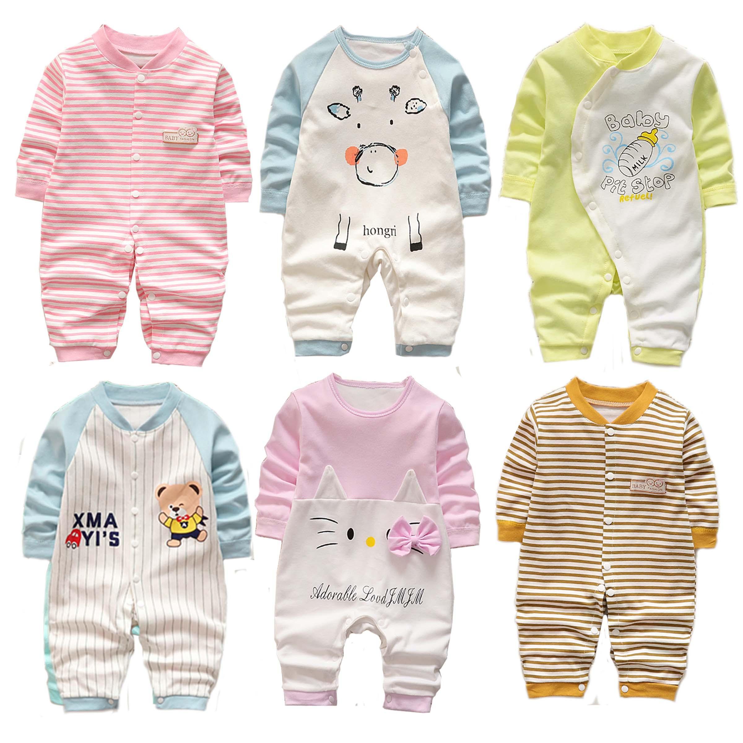 Bodysuit cotton liền quần dài tay bé trai bé gái (áo liền quần, body suit, sleep suit, body thu đông)(Hàng Quảng Châu xuất Hàn) TTS170 Nhật Bản