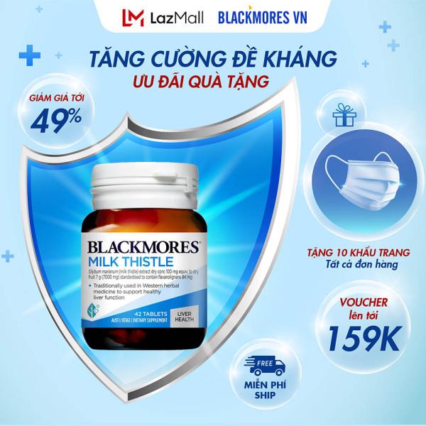 Blackmores Milk Thistle 42v - Viên uống bổ gan, giải độc tố Blackmore Úc