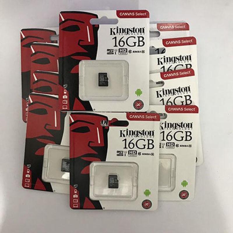 Thẻ nhớ micro SD kingston 16GB class 10 tem FTT/Vĩnh xuân