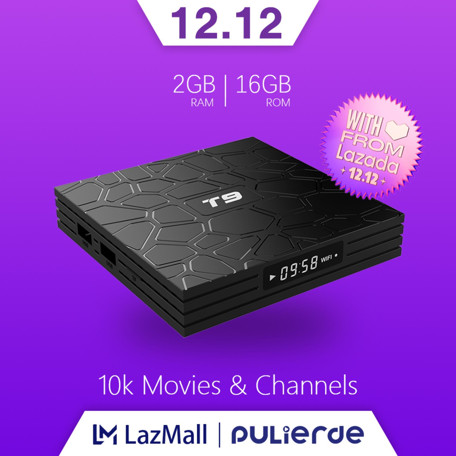 Giá Tiết Kiệm Khi Sở Hữu T9 Tivi Box Android 9.0 4GB RAM 32GB/64GB ROM 5GHz Wifi RK3318 Hỗ Trợ Bluetooth 4K Smart TV Box Media Player
