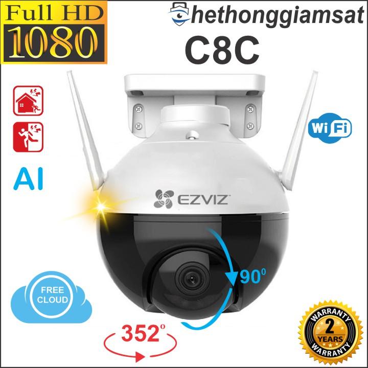 [Giá Sốc] Camera Wifi EZVIZ C8C 1080P 2MP - Ngoài Trời - Màu Bang Đêm - Xoay 360 Độ - Camera EZVIZ, Chính Hãng, Bảo Hành 24 Tháng