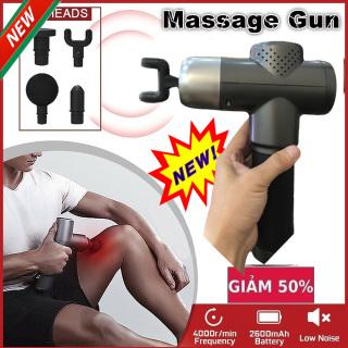 (HÀNG CHÍNH HÃNG)Súng Massage Cầm Tay Cao Cấp Cát Á 5 đầu trị liệu,giảm cơn đau căng thẳng,sản phẩm tốt cho người tập gym và phục hồi sâu các khối cơ chính nhanh chóng.(SALE-50%) thumbnail