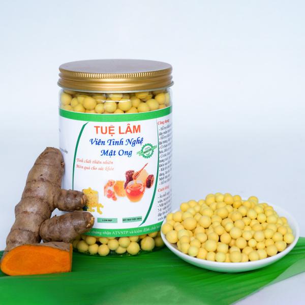 Viên tinh nghệ mật ong Tuệ Lâm hộp 500gam ( Đặc biệt phù hợp với người bị viêm loét dạ dầy, Phụ nữ sau sinh, phụ nữ thích làm đẹp) (viên tinh nghệ ) ( viên tinh nghệ sữa ong chúa) ( vien tinh nghe mat ong) giá rẻ