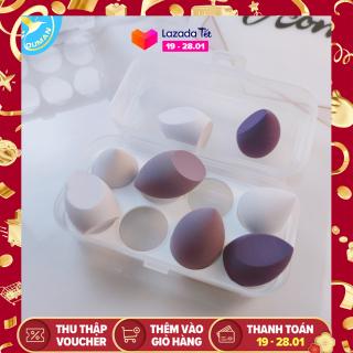 Bông mút makeup 1 hộp 2 cái hình giọt nước,oval màu ngẫu nhiên thumbnail