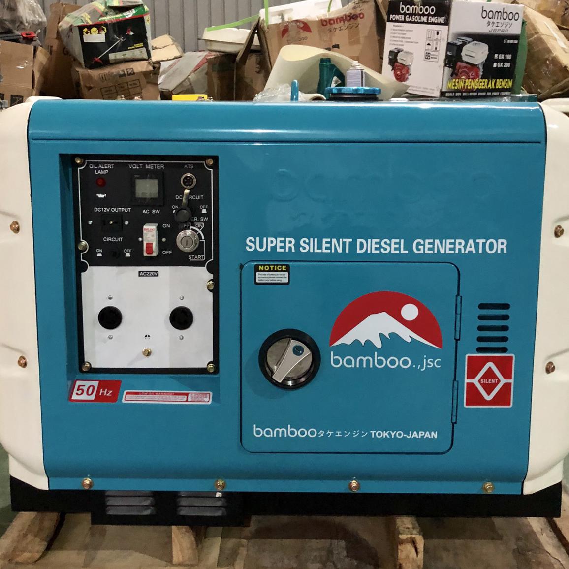 Máy phát điện chạy dầu 8kw siêu chống ồn BMB 9500 DET