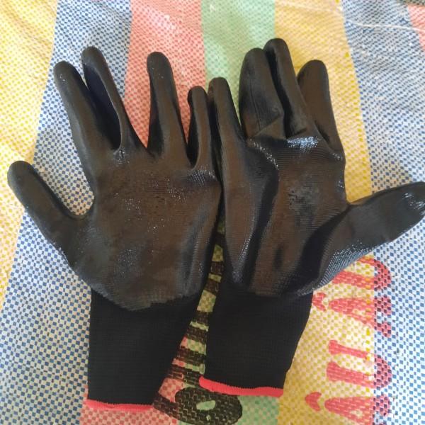 2 bịch (24 đôi) găng tay bảo hộ phủ bàn sơn PU dành cho xây dựng, cơ khí, free size 2 màu lựa chọn