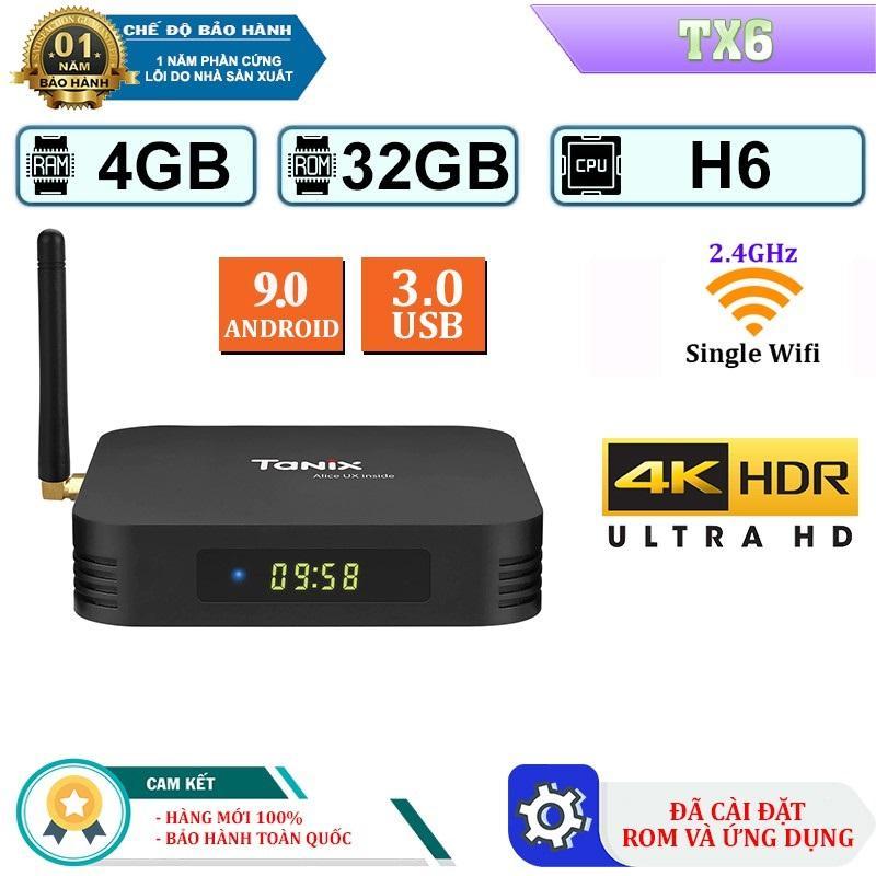 Bảng giá [Gía Hủy Diệt] Android Tivi Box Tanix TX6 - Ram 4GB, Rom 32GB, Android 9.0 -  Bản Single Wifi Điện máy Pico