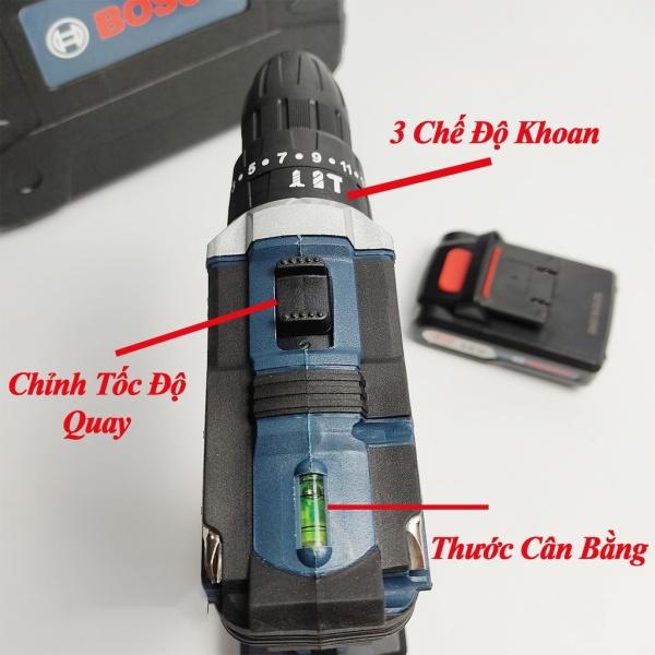 Máy Khoan Pin Bosch 36V  Lõi Đồng Tặng Bộ Phụ Kiện 24 Ch Tiết Đi Kèm