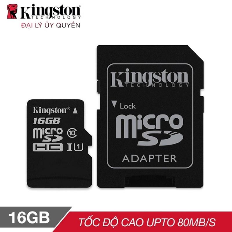 Thẻ nhớ Kingston 16GB SDHC Class 10 UHS - BH Chính hãng 5 Năm