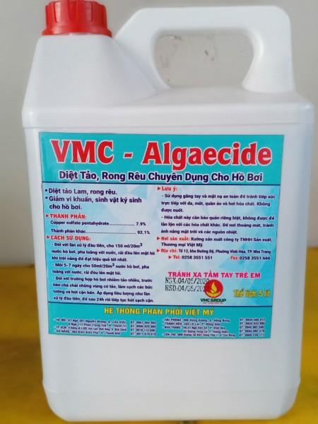 CAN 5L VMC ALGAECIDE - DIỆT TẢO, RONG RÊU CHUYÊN DỤNG CHO HỒ BƠI