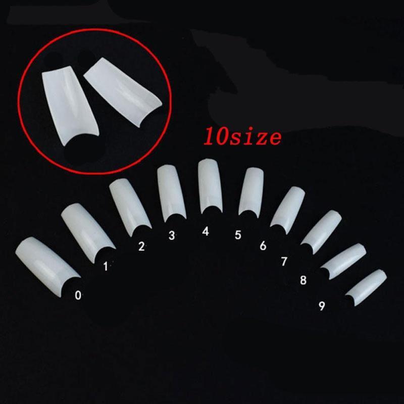 10 móng tay giả màu trắng