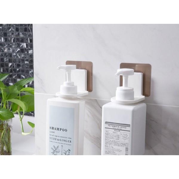 Giá móc treo cổ chai lọ nước rửa tay dầu gội đầu sữa tắm xà phòng dán tường siêu chắc