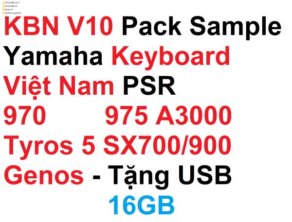 V10 KBN Pack sample yamaha keyboard dành cho nhạc công PSR S970 975 A3000 SX700 SX900 Tyros 5 Genos (lưu ý cần xuất file info)